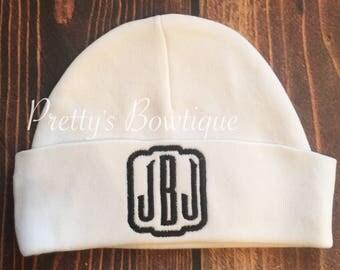 Personalized newborn hat - Newborn beanie - Newborn monogram hat - Baby Hat - Coming home hat