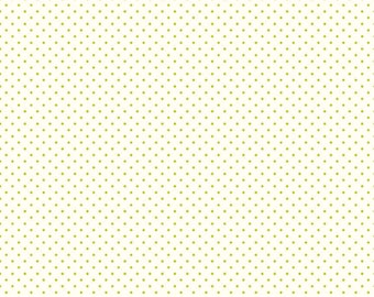 Le Creme Swiss Dots Lime on Cream by Riley Blake Designs - C600-32 Lime