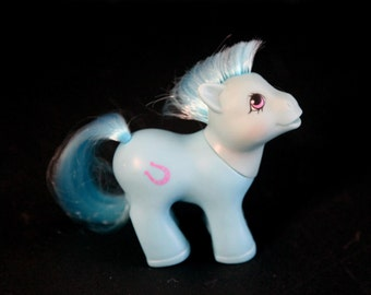 Vintage 80s my little pony baby lucky boy rare blue