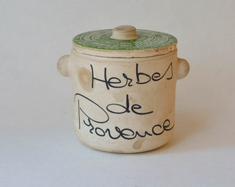 French Herb Pot Covered Clay Pot Herbs de Provence Made in France