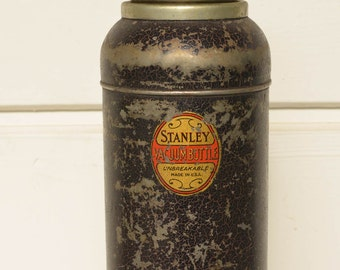 Vintage Stanley Thermos Oval Label Stanley Vacuum Bottle