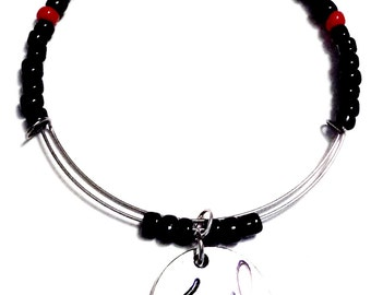 TRAVEL THE WORLD - Expandable Bracelet, Affirmation Jewelry, Cause Jewelry, Benefits Homeless Mothers of Atlanta