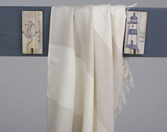 Linen Hammam Towel Lightweight / Linen Beach Blanket / Linen Fouta Towel / Huckaback Towel / Pareo / SPA Towel / Sauna Towel / Bath Towel