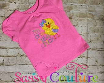 Easter/cute chic embroidered shirt any size