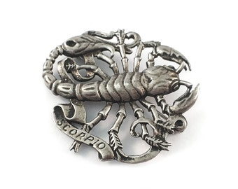Sterling Scorpio Brooch by Gugliemo Cini Zodiac Pin