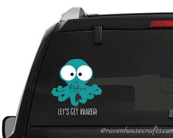 Octupus Vinyl Decal - Poptupus - POP - People Over Planners Decals - POP House Decal - Car Decal - People > Planners