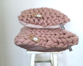 Chunky knit cushion COVER 50 x 50  (12 colours)