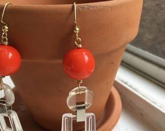 Berlin+clear vintage Drop earrings