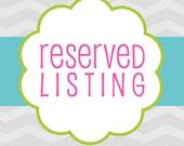 Custom Listing for Yvette