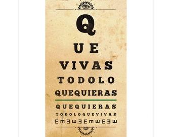 QVTLQQ Eye Chart - Print