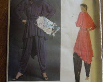 Vogue 2702, tunic, sash, pants, UNCUT sewing pattern, craft supplies, womens