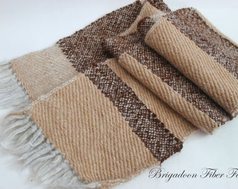 hand woven scarf, Alpaca, Brown, fawn, hand woven, alpaca scarf, man's scarf