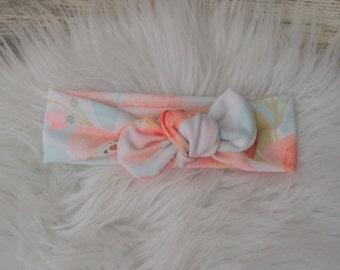 Flower Headband/ flower knot Headband/ Knot Headband, Turban Headband, Infant Headband, Adult headband