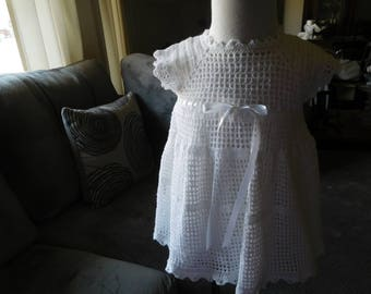 1007 Hand Crocheted Short Dress