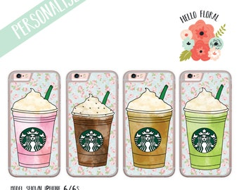 Personalised Frappuccino iPhone Samsung Galaxy iPod Touch hard case