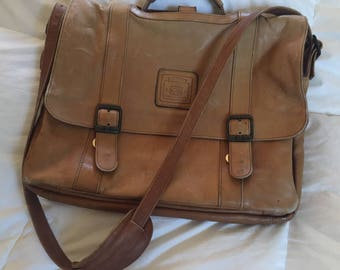 Vintage Original Geoffrey Been Messenger Bag Handcrafted Leather Distressed