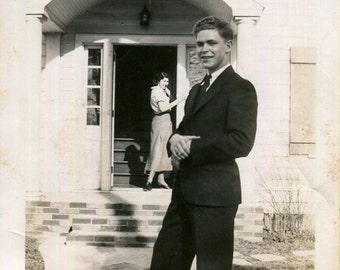 Vintage Photo..You Coming Dear?  1930's Original Found Photo, Vernacular Photography