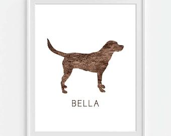 Delicieux Labrador Retriever Art Print, Lab Dog Print, Personalized Dog Art,  Personalized Labrador,