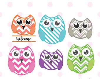 Owl SVG, owl monogram svg, owl clipart, owl wall decor, owl logo, owl iron on, svg files for cricut INSTANT DOWNLOAD - Royalty Free.