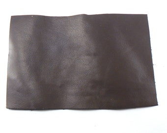 "Dark Brown Leather - 4"" X 6"" Square Brown Split Leather - Brown Craft Leather - Cowhide leather - Genuine Leather - Leather Remnant"
