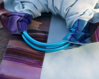 Baby ring sling - Baby Carrier - Beads as a gift - light turquoise