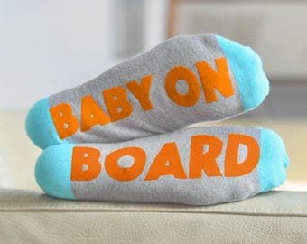 Funny Sock Mother's Day Gift Baby on Board Socks - Feet Up! Luxury Funny Maternity Sock Gift