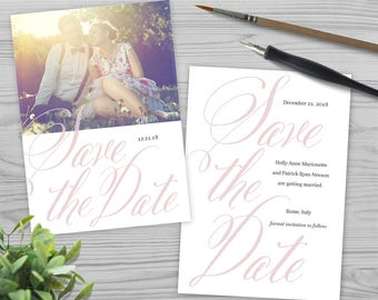 Save the Date, Printable Save the Date, Save Our Date, Wedding Save the Date, Save the Date Cards, DIY Save the Date, Calligraphy