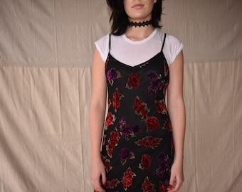 Velvet flowers dress