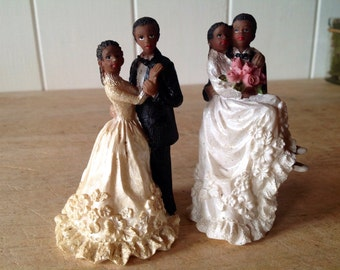 Rare Vintage Wedding cake toppers - two designs available