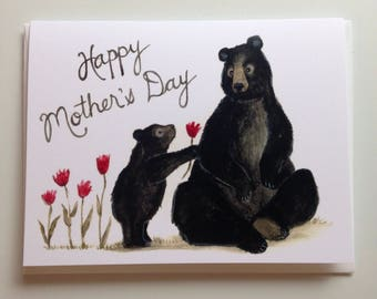 HappyMother's Day Card Bears greeting card 4.25x5.5 blank inside