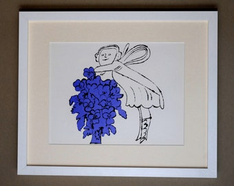 ANDY WARHOL - 'Flowers in the bottom of my garden' - rare original vintage granolithograph - c1976 (framed)