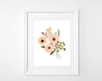 Floral Print 1 || Nursery Poster Print Home Decor Watercolor