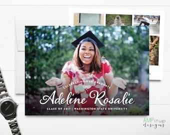 Custom Photo Graduation Announcement - Graduate Name Announcement - Scripted Name - Graduation Invitation- High School Graduation - College