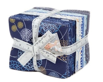 Modern Fat Quarter bundle | True Blue by Zen Chic for Moda | patchwork fabric | quilters cotton
