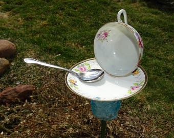 Teacup Bird Feeder Garden Decor