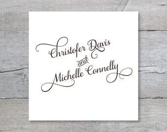 Custom Wedding Monogram, Wedding Logo, Wedding Initials
