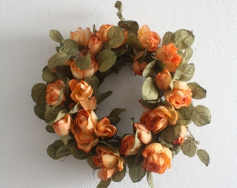 Easter Wreath, Summer Wreath, Front Door Wreath, Silk Flower Wreath, Spring Wreath, Floral Wreath 30cm, 11.8 ""