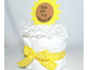 You are my Sunshine Mini Diaper Cake