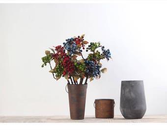 artificial berry blue berry  silk berry artifical fruites berry flora arrangement 5pcs