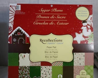 Recollections 12x12 Christmas Scrapbook Paper 48 Sheets