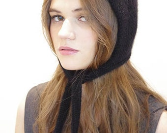 Pure hand Knit  hand woven Pilot hat