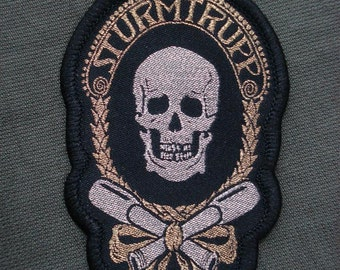 Sturmtrupp (assault troop) woven patch