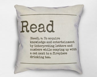 Read Pillow, Reading Pillow, Reading Decor, Bookish Gifts, Book Pillow, BooK Lover Gift, Book Decor, Reading Nook, Book Nook, Reading Quotes