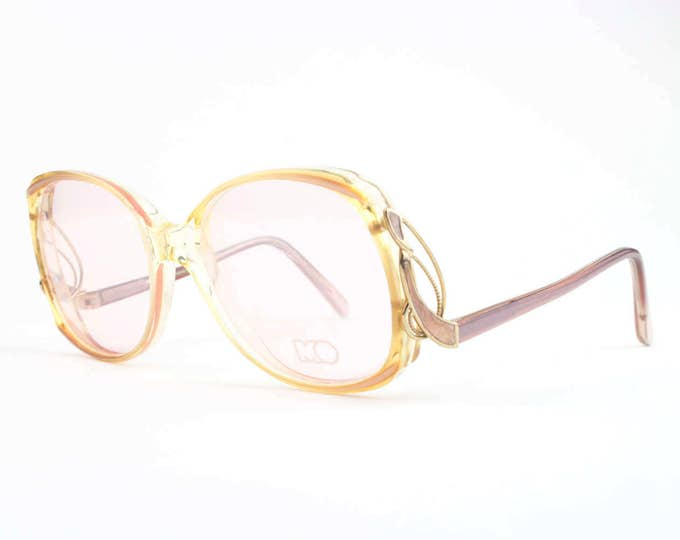 Vintage 80s Eyeglasses | Clear Pink Glasses with Pink Demo Lenses | NOS 1980s Eyeglass Frame | Deadstock Eyewear - Precious XX