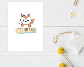 Greeting Card | Little Friends Collection | Foxy