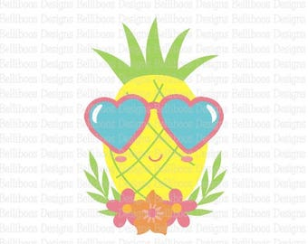pineapple svg - pineapple cut file - summer svg - summer cut file - beach svg - beach cut file - svg pattern - dxf file