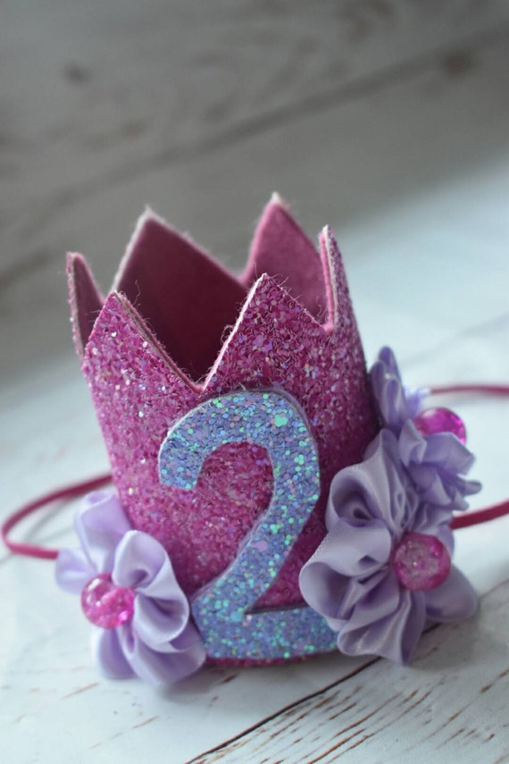 2nd birthday princess sofia crown, custom birthday hat, birthday photo prop, baby birthday outfit, pink and purple crown