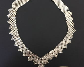 Necklace Maille Silver Mesh Metal Chain Maille  Ladies Jewelry