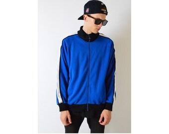 Vintage 90s Blue Track Jacket