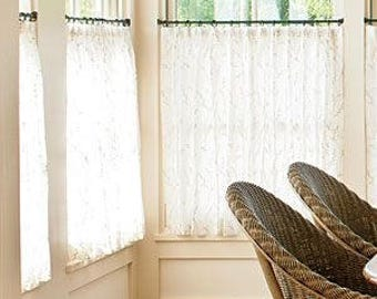 Farmhouse Lace Cafe Curtains Made to Order Drapes